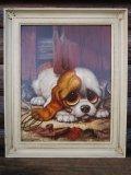 60s GIG Vintage Big Eyes Art Dog #017 (PJ432)