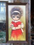 60s Ozz Franca Vintage Big Eyes Art (DJ114)