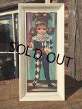 SALE!60s Eden Vintage Big Eyes Art Harlequin (MA292)