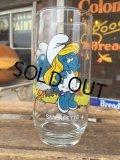 80s Vintage Glass Smurfette (MA726)