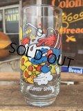 80s Vintage Glass Clumsy Smurf (MA725)