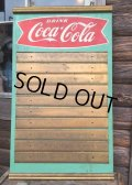 Vintage Coca Cola Fishtail Menu Board Sign (AL126)