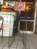 50s Vintage 7UP Soda General Store Display Wire Rack Tin Sign (AL270)
