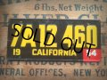 50s Vintage Bicycle License Plate 7A12 460 (AL275)