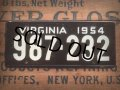 50s Vintage Bicycle License Plate 987-232 (AL277)