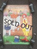 70s Vintage McDonalds Poster Sign Ronald McDonald (AL352)
