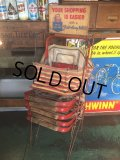 Vintage General Store Shoppig Basket Rack (AL370)
