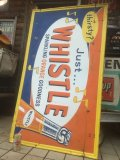 Vintage  Whistle Orange Soda Drink Embossed Sign (AL423)