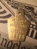 80s Vintage Dog License Tag #1888 (AL1762)