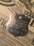 90s Vintage Dog License Tag #6067 (AL1750)